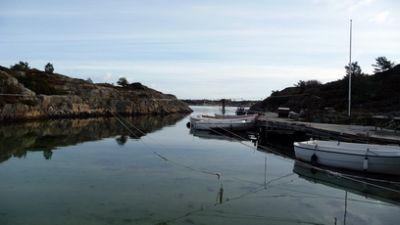 Blick in unseren Anglerhafen (sehr schön bei Nachttauchgängen...)